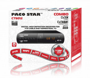 PACO STAR CT6012 DVB-C/T2 HD receiver with iptv